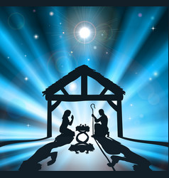 the christmas nativity vector image