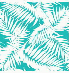 Tropical camouflage pattern jungle tree leaves vector