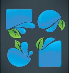 water frames vector image