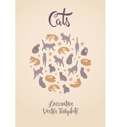 Decorating design with the cats vector