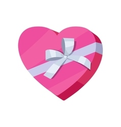 Gift Box Icon in Flat Style Design vector image