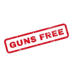 Guns free text rubber stamp vector