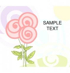 flower greeting vector image