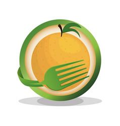 orange vegan food fresh vector image