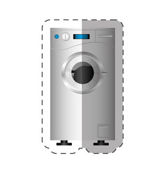 washing machine appliance home cut line vector image