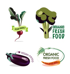 Vegan set of design elements vector