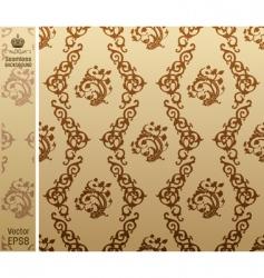 seamless vintage background floral pattern vector image