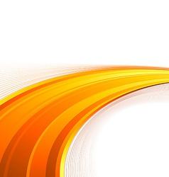 Orange power swoosh wave folder template vector image
