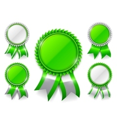 Green award medals vector