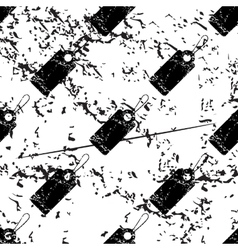 String tag pattern grunge monochrome vector
