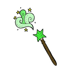Comic cartoon magic wand vector