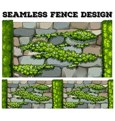 Seamless fence with flowers vector image