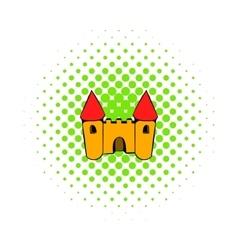 Castle icon comics style vector