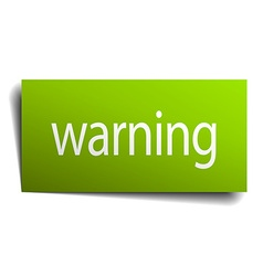 Warning square paper sign isolated on white vector
