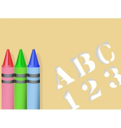 Stencil and crayons vector