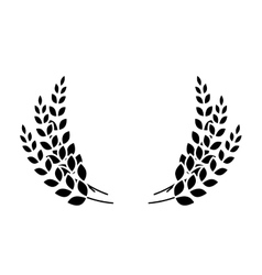 black wheat branches icon image design vector image