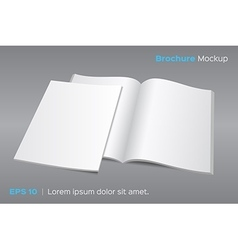 Blank opened magazine or brochure mockup vector image