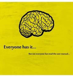 Brain black vector image vector image