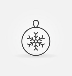 christmas ball with snowflake icon or symbol in vector image