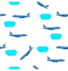 clouds airplane vector image vector image