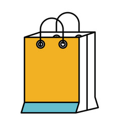 color sections silhouette of shopping bag vector image