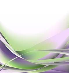 Colorful waves isolated abstract background light vector image vector image