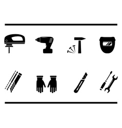 Construction repair tools set vector