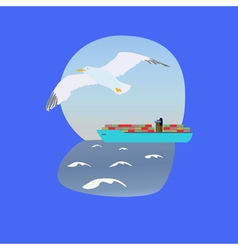 container ship vector image vector image