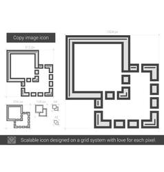 Copy image line icon vector