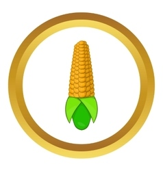 Corn cob icon vector