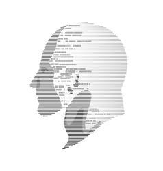 digital head vector image vector image