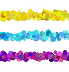 Dot pattern line separator design set from vector