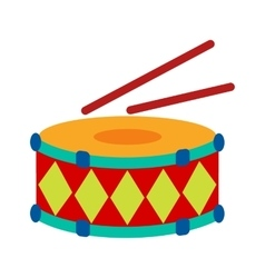 Drums and stiks vector