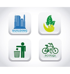 eco friendly vector image vector image