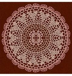 Elegant lacy doily vector