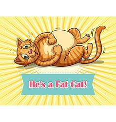 Fat cat vector