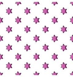 Geometric shape of six pointed star pattern vector