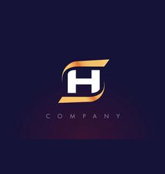 H letter logo design modern letter template vector