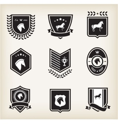 horse badges vector image