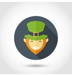 Leprechaun face icon vector image