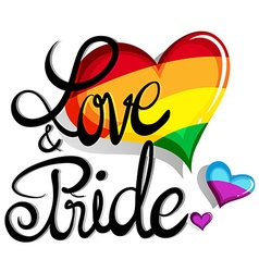 Love and pride theme with hearts vector image