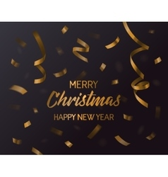 Merry christmas and new year 2017 confetti vector