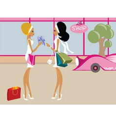 miss boo shopping vector image vector image