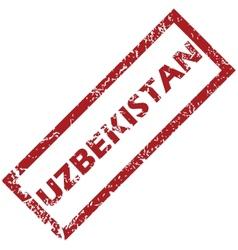 New uzbekistan rubber stamp vector