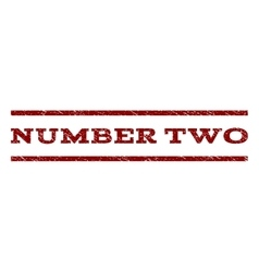 Number two watermark stamp vector