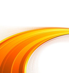 Orange power swoosh wave folder template vector