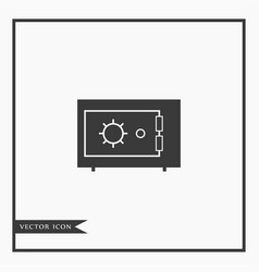 safe icon simple vector image vector image