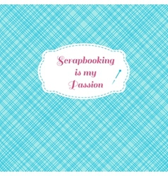 Scrapbook seamless pattern with frame vector
