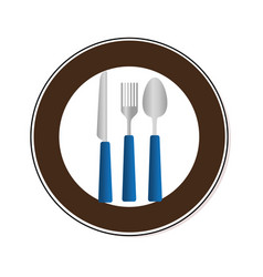 set cutlery tools icons vector image vector image