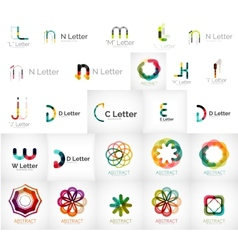 Set of various universal company logos vector image